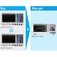 Free FPC 1000 spectrum analyzer with qualifying oscilloscope