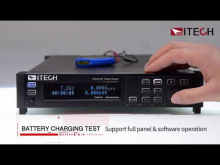 Embedded thumbnail for ITECH IT-M3100 DC Power Supply feature: battery charging test
