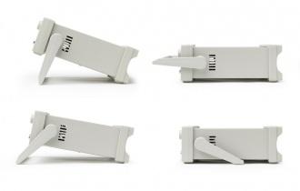 Aim-TTi 2U half rack case handle positions (illustrative only)