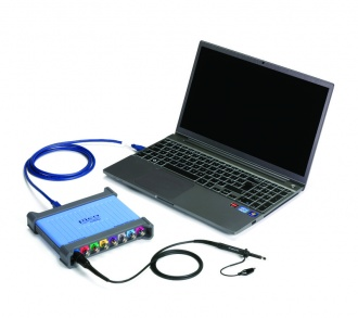 Pico Technology PicoScope 4824 PC USB oscilloscope with laptop