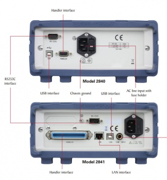 BK Precision BK2840 and BK2841 DC resistance meters - back panels