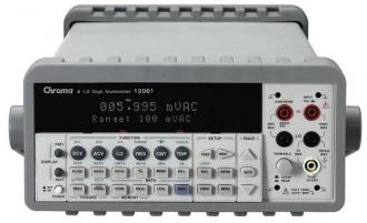 Chroma 12061 Digital multimeter - front