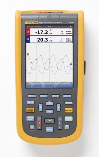 Fluke 124B ScopeMeter (120B series) front