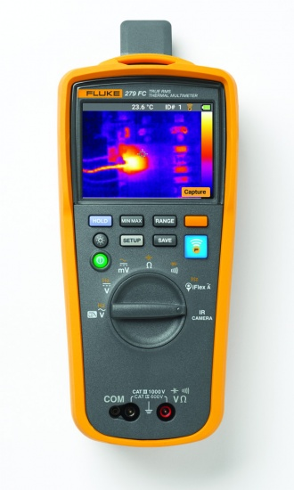 Fluke 279 FC Thermal Imaging Multimeter - front with IR