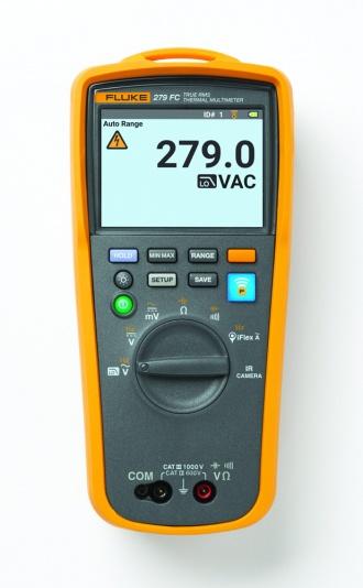 Fluke 279 FC Thermal Imaging Multimeter - front with reading