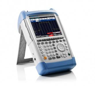 Rohde and Schwarz FSH series hand-held spectrum analyzer - side