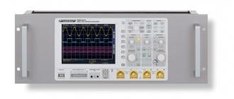 Rohde & Schwarz (HAMEG) HZ091 rack kit (shown with HMO2024 oscilloscope)