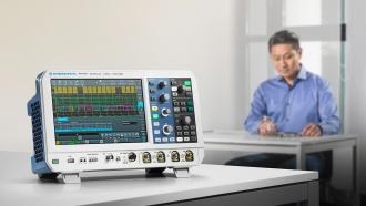 RTA4004 (RTA4000 Series) oscilloscope - on desk