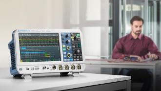 RTM3004 (RTM3000 Series) oscilloscope - on desk