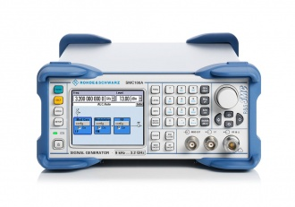 Rohde and Schwarz SMC100A signal generator - front