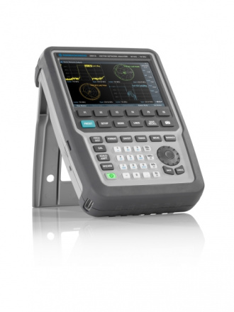 Rohde & Schwarz ZNH series handheld vector network analyzer on stand