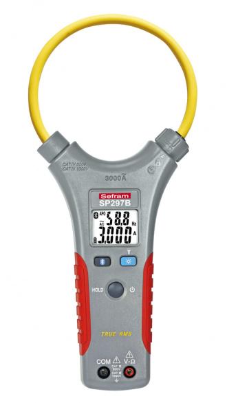 SEFRAM SP 297B flexi loop clamp meter with Bluetooth - front