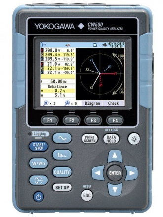 Yokogawa CW500 hand-held power analyzer - front panel
