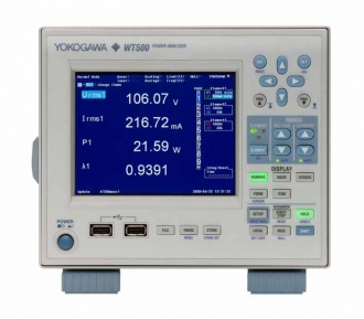 Yokogawa WT500 Power Analyzer front panel
