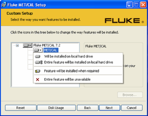 Fluke Software installer image