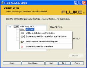 Fluke Software installer image