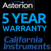 California Instruments 5 year warranty on Asterion AC units